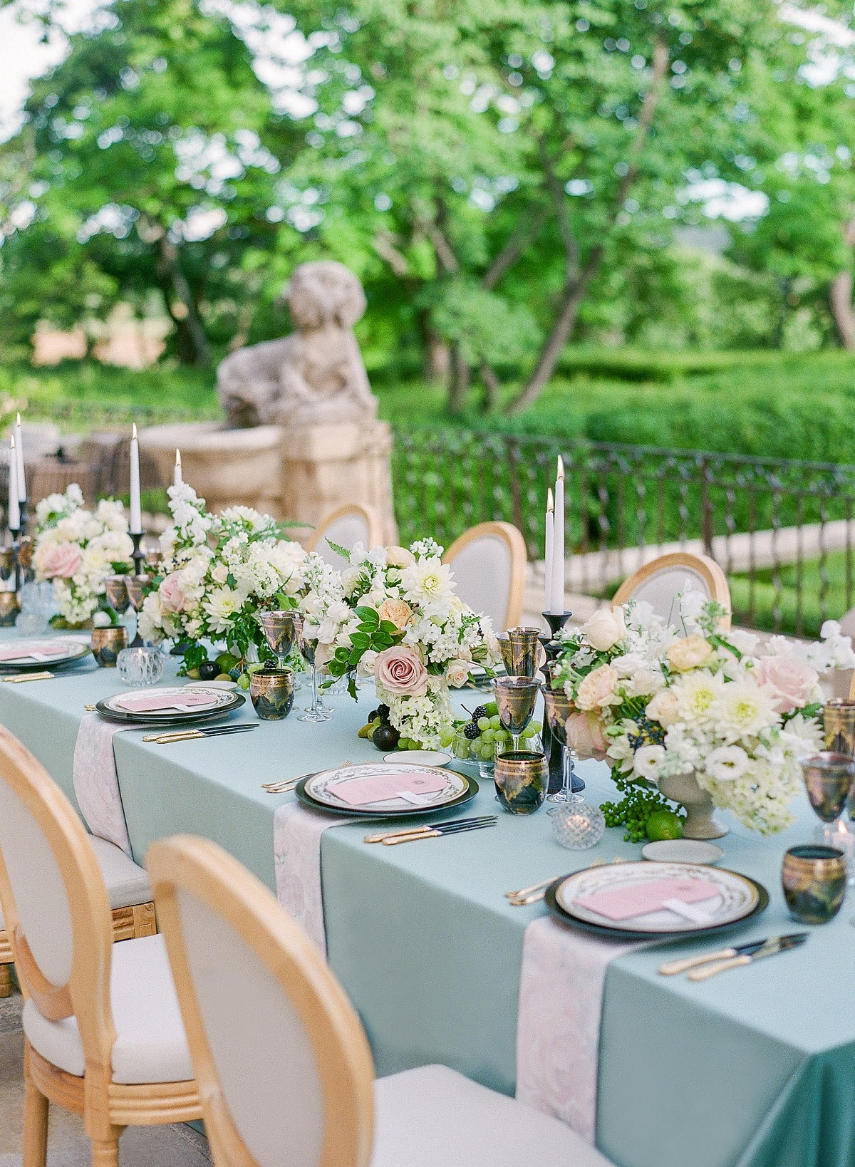 Luxe Provence Wedding with Beautiful Floral Arch