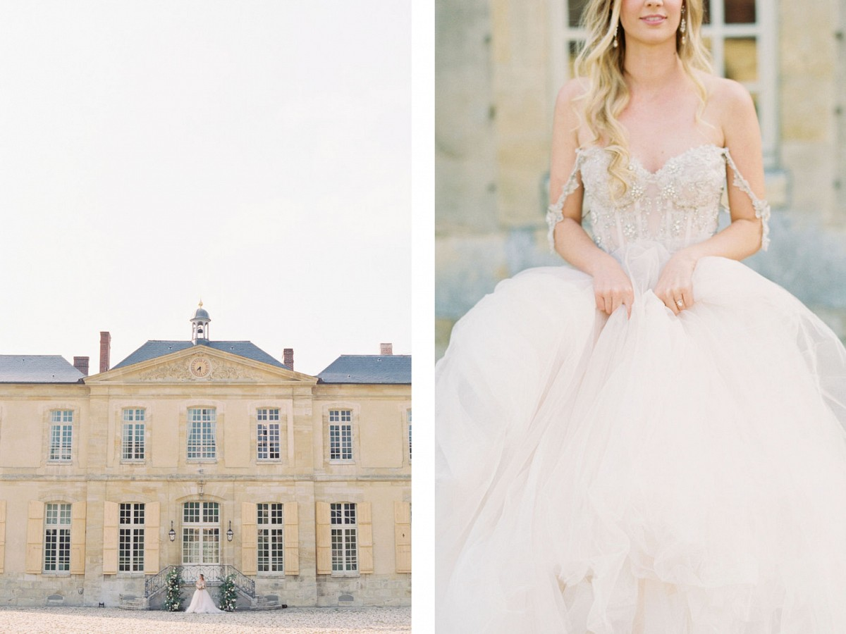 Chateau Wedding Venue with a Princess Dress of Your Dreams
