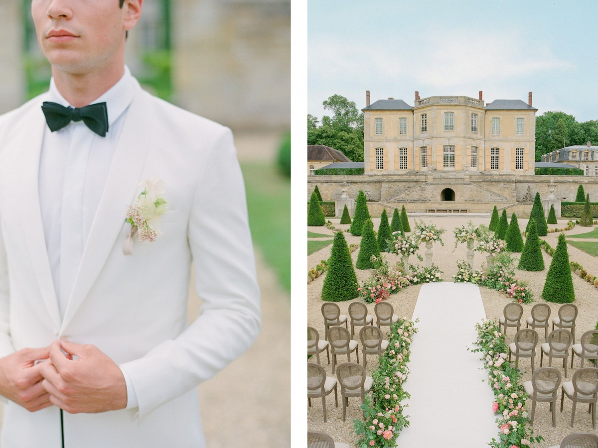 Fairytale Wedding Style in this Chateau Near Paris