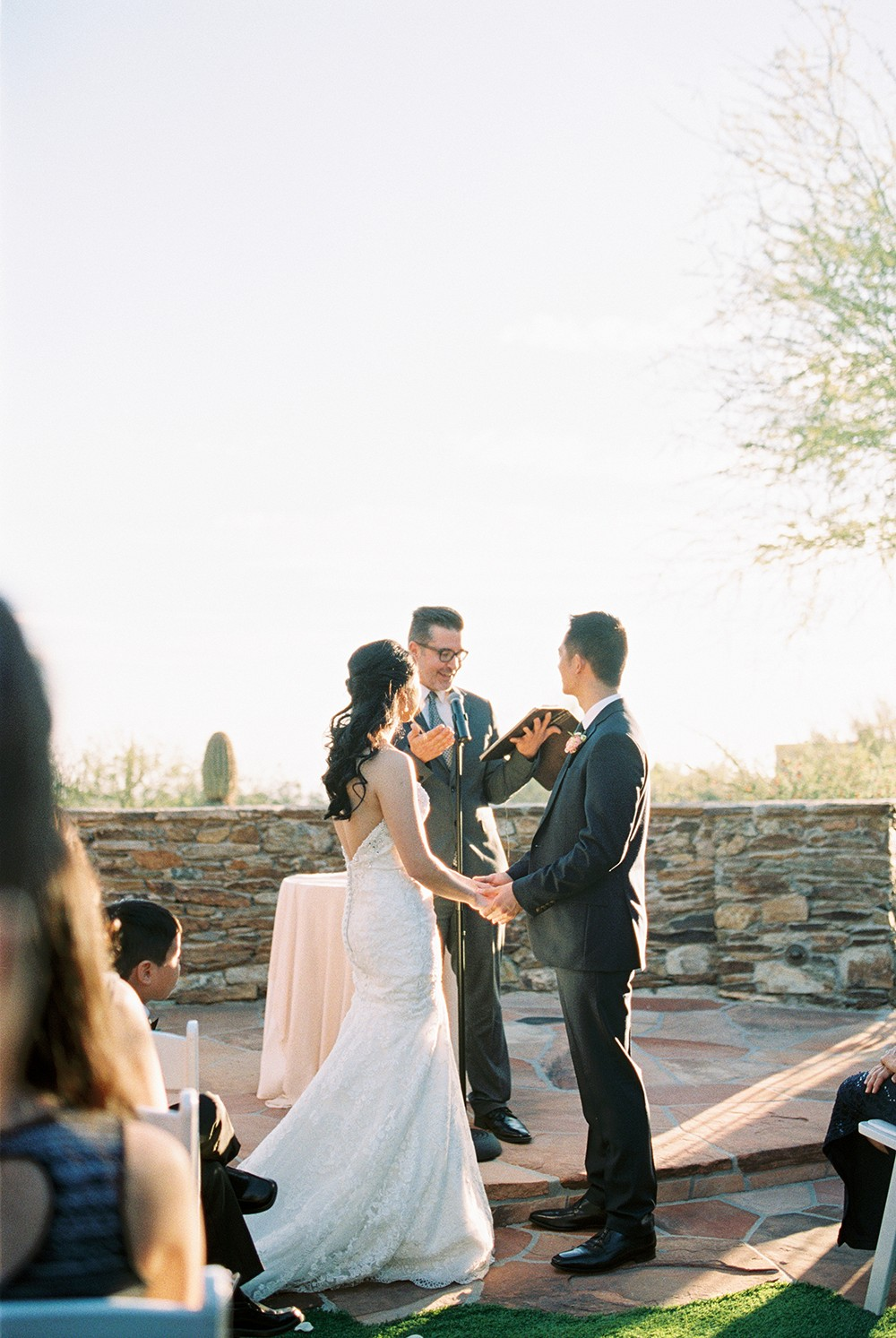 Christine and Mark's Blush and Taupe Outdoor Wedding