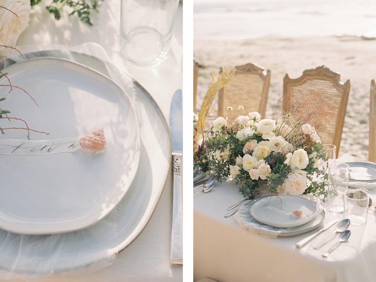 Coastal wedding reception style by Lianna Marie