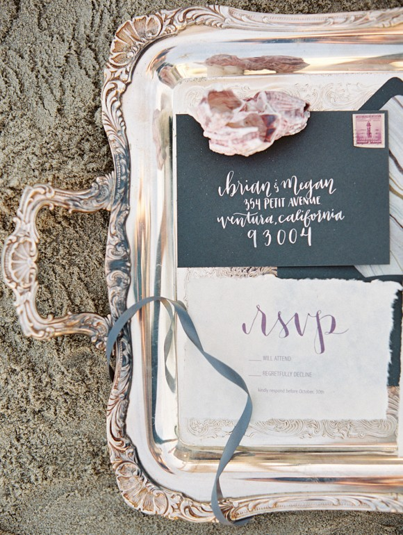 Siren of the Sea Coastal Wedding Ideas by Lavender & Twine on Wedding Sparrow