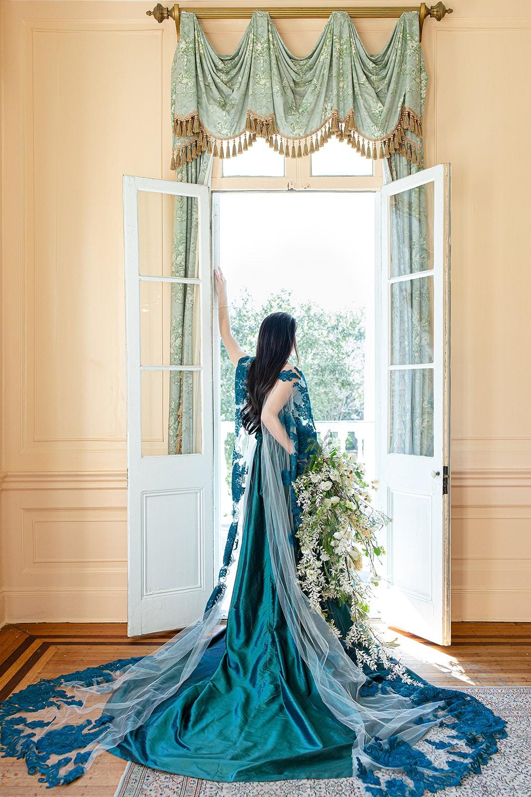 Green wedding dress ideas