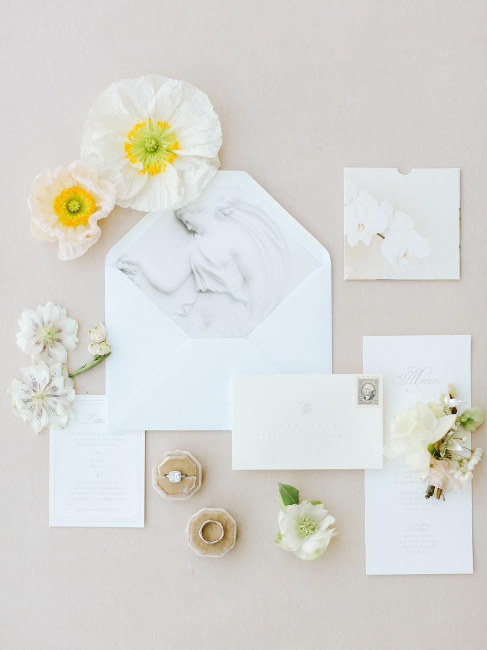Tranquil yet Modern White Wedding Ideas