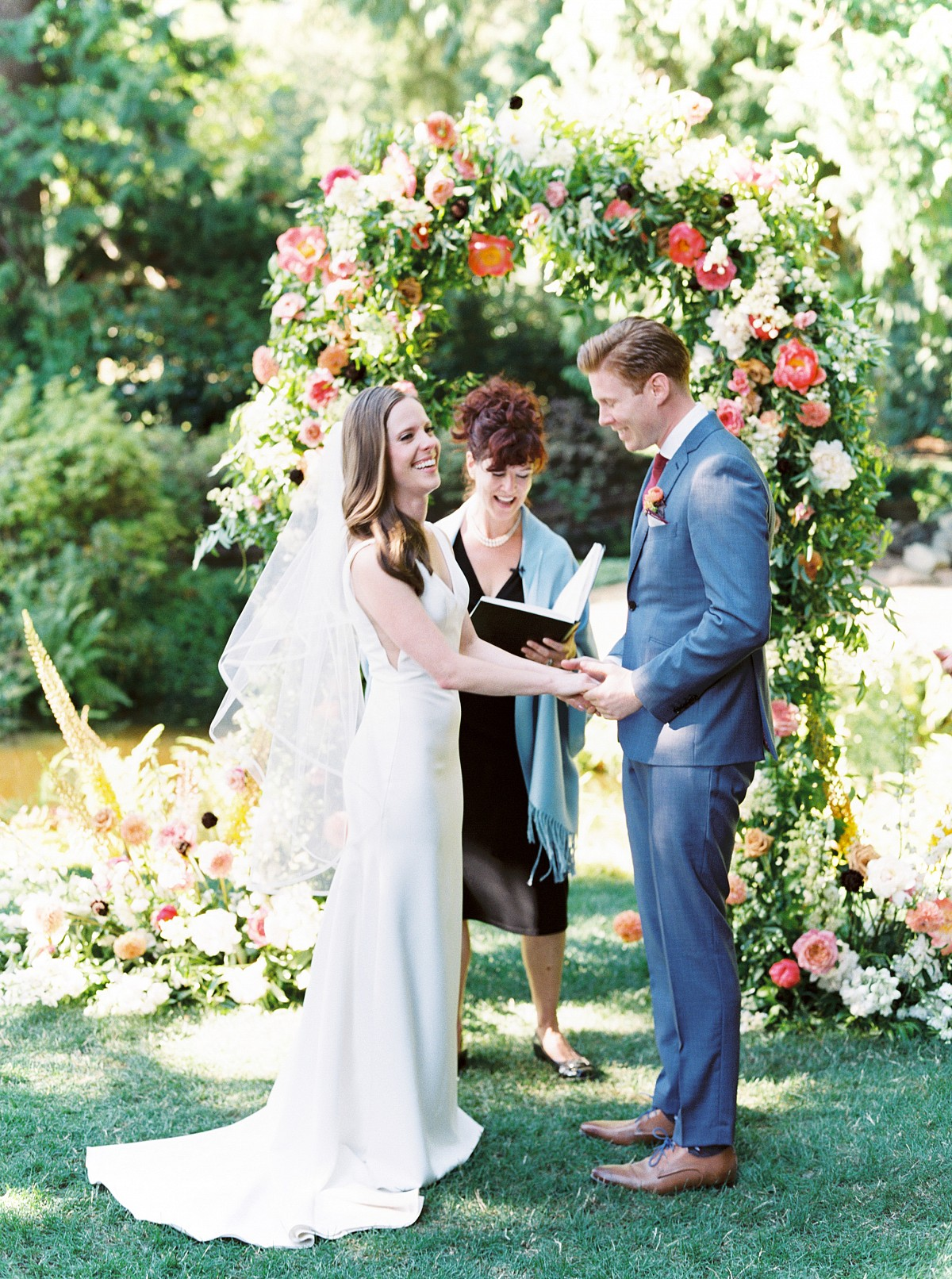 Winery Wedding With The Most Stunning Floral Arch You've Ever Seen!