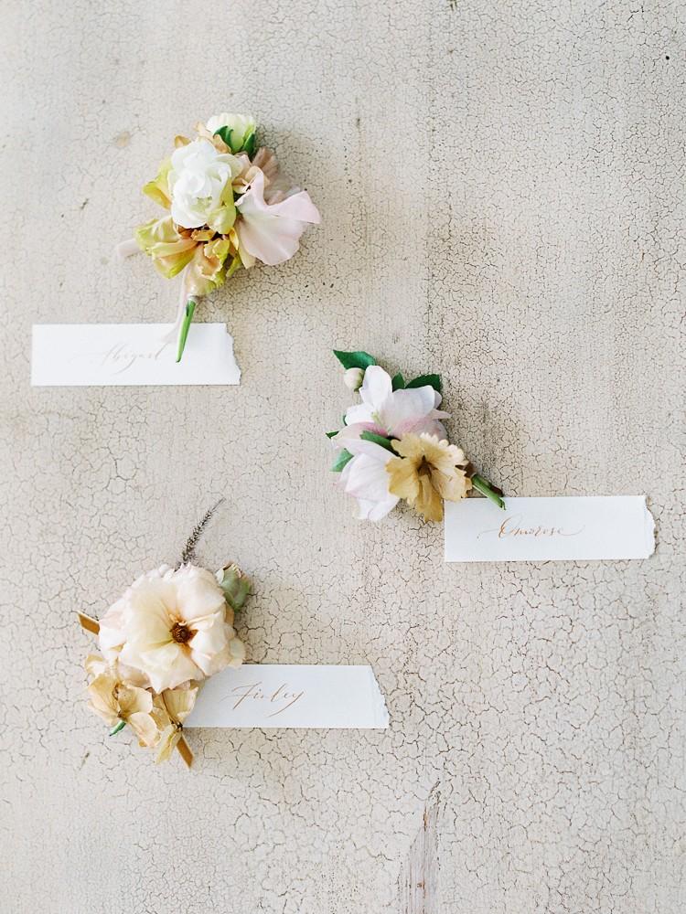 muted wedding flowers