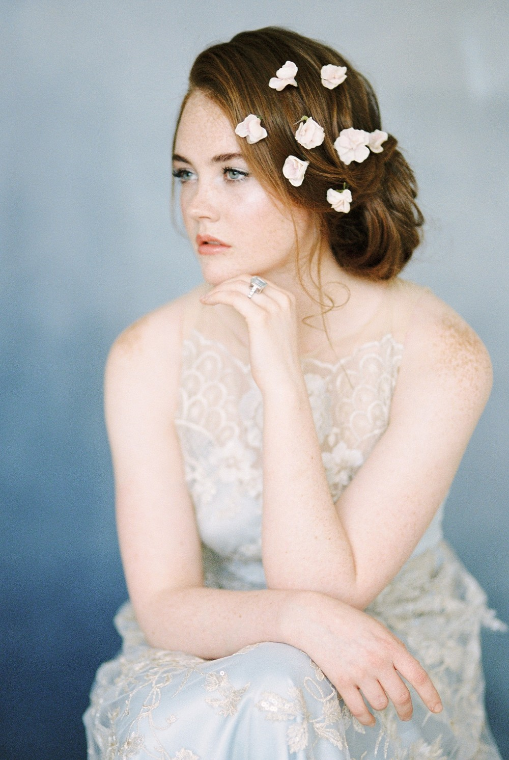 Ethereal Dusty Blue Bridal Inspiration