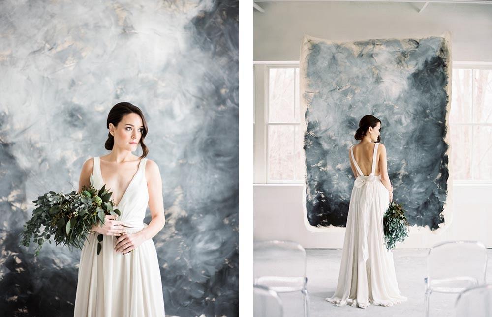 Quietly Beautiful Modern Wedding Inspiration by Elizabeth LaDuca Photography   Wedding Sparrow   fine art wedding blog