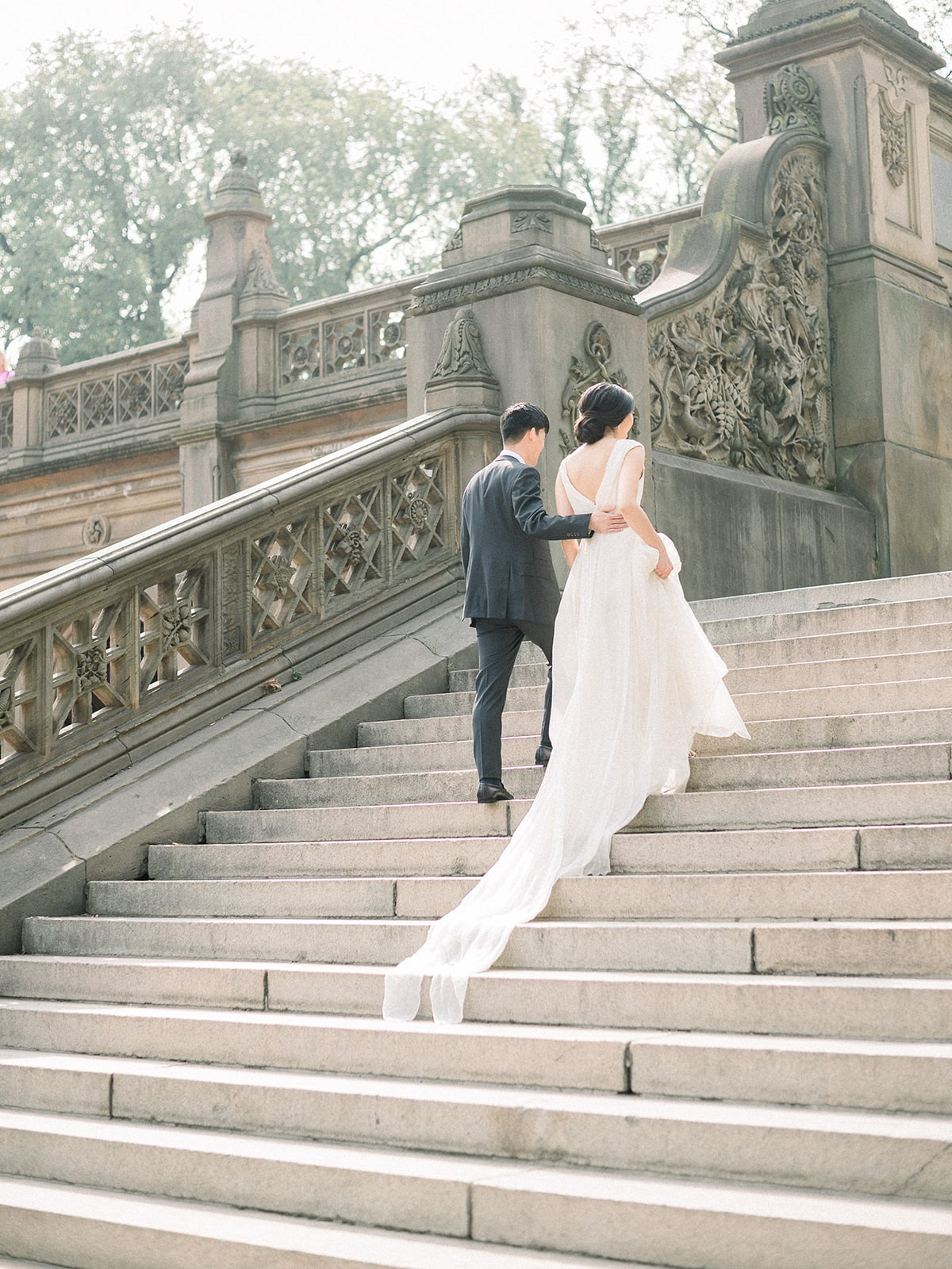 Pale Blue European Style Romance in New York City