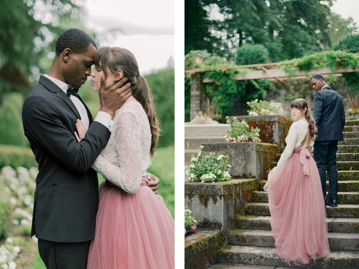 Sweet Engagement Session in Oregon with Blush Pink Gown