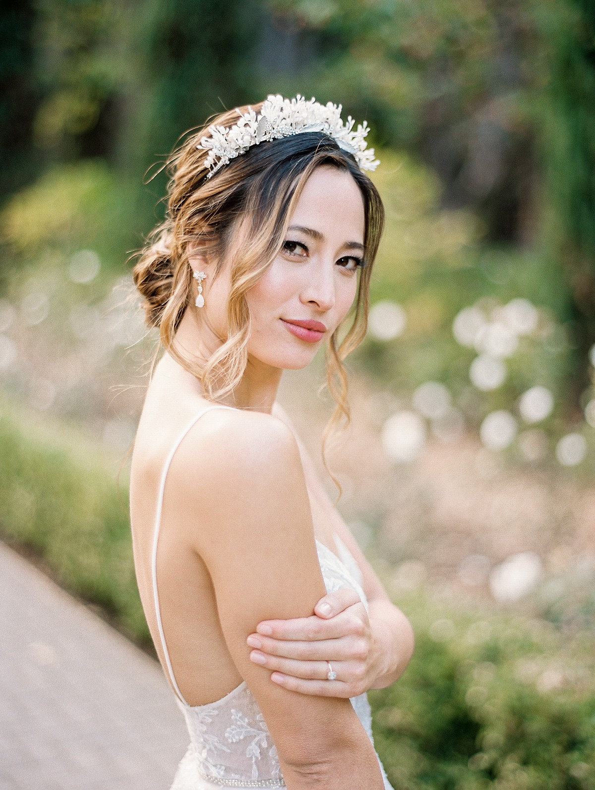 French Soiree Style in a Monique Lhuillier Gown