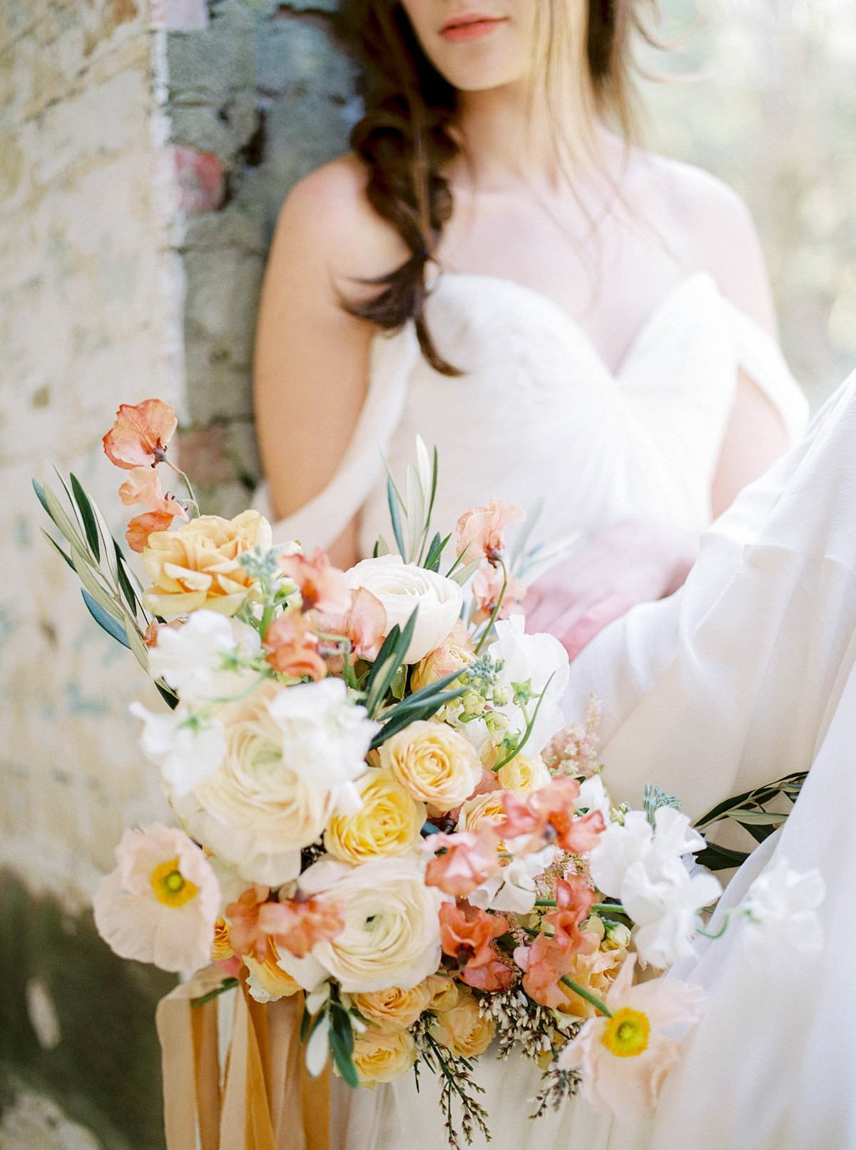 Peach and Pale Yellow Bridal Inspiration