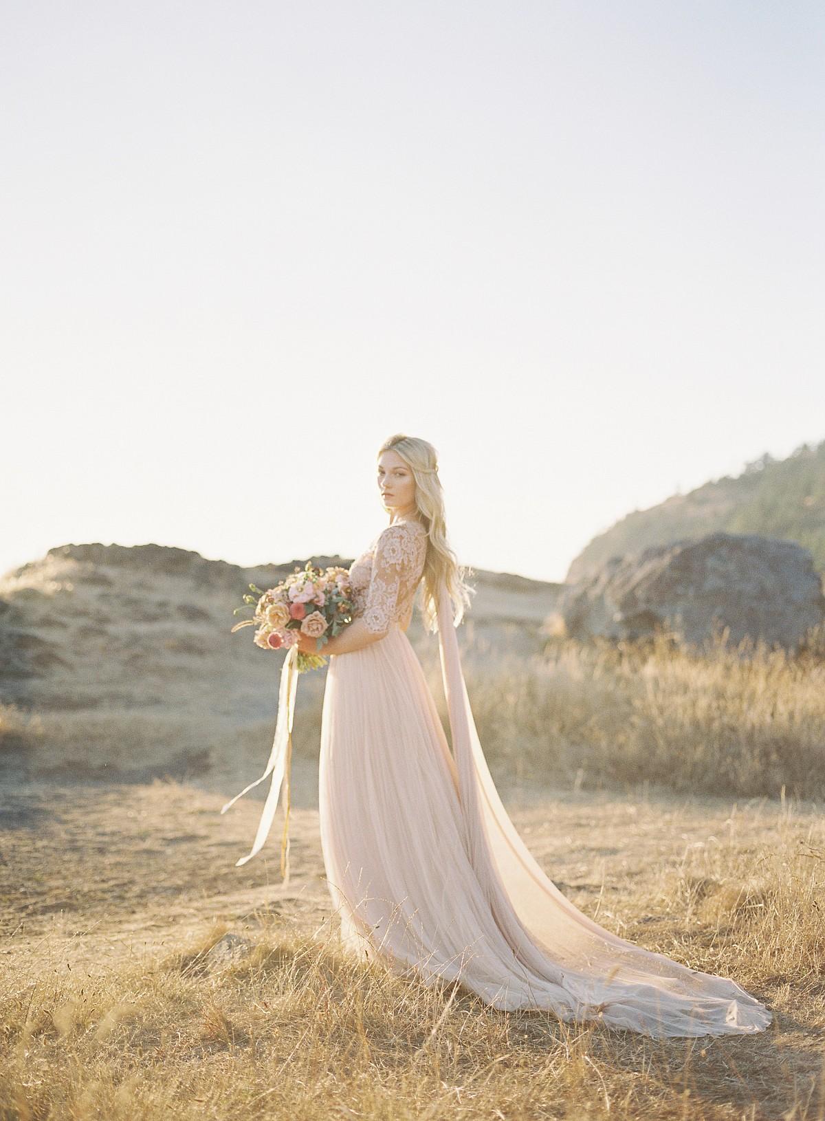 Blush Lace Wedding Dress Inspiration