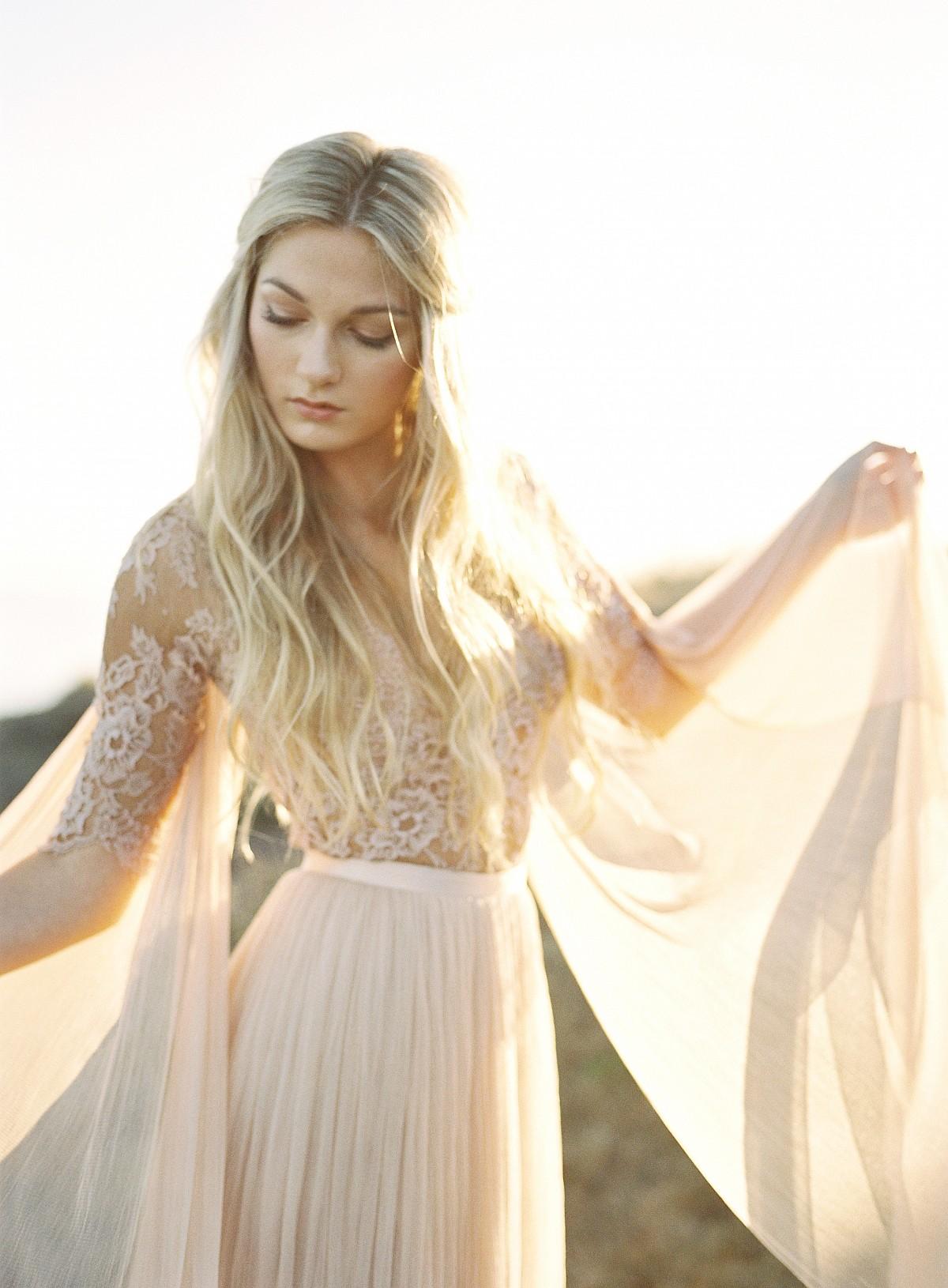 Blush Lace Wedding Dress Inspiration by Heather Payne Photography | Wedding Sparrow | wedding blog