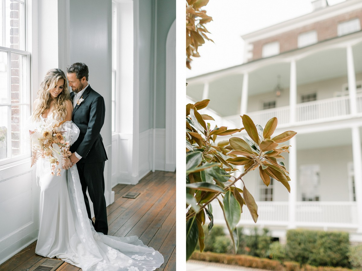 Muted Rust Tones with Pops of Black in this Charleston Elopement