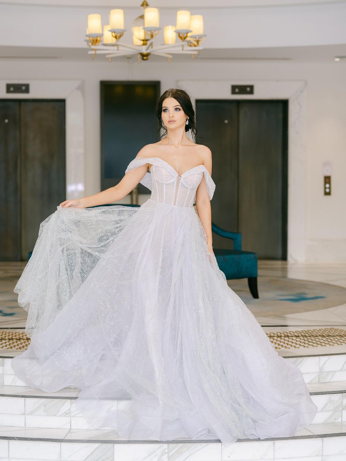 Galia Lahav grey dress
