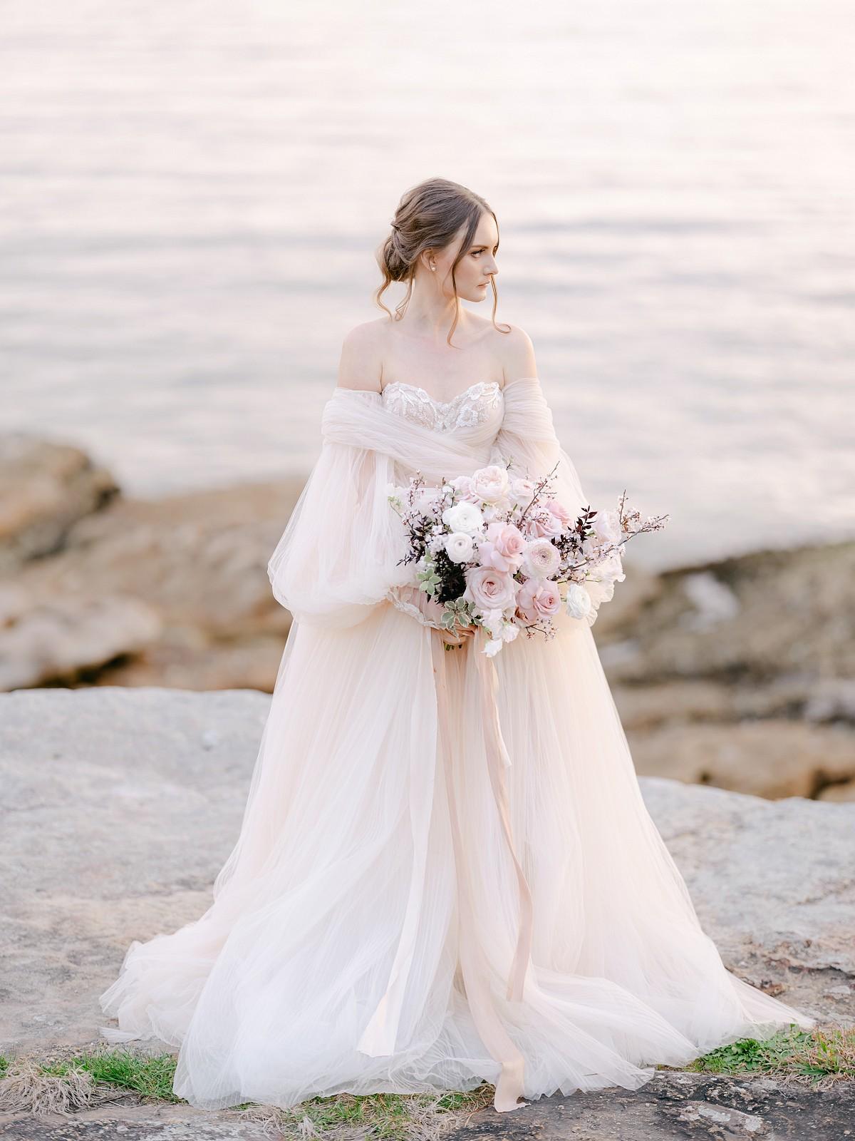 Galia Lahav dress in blush pink