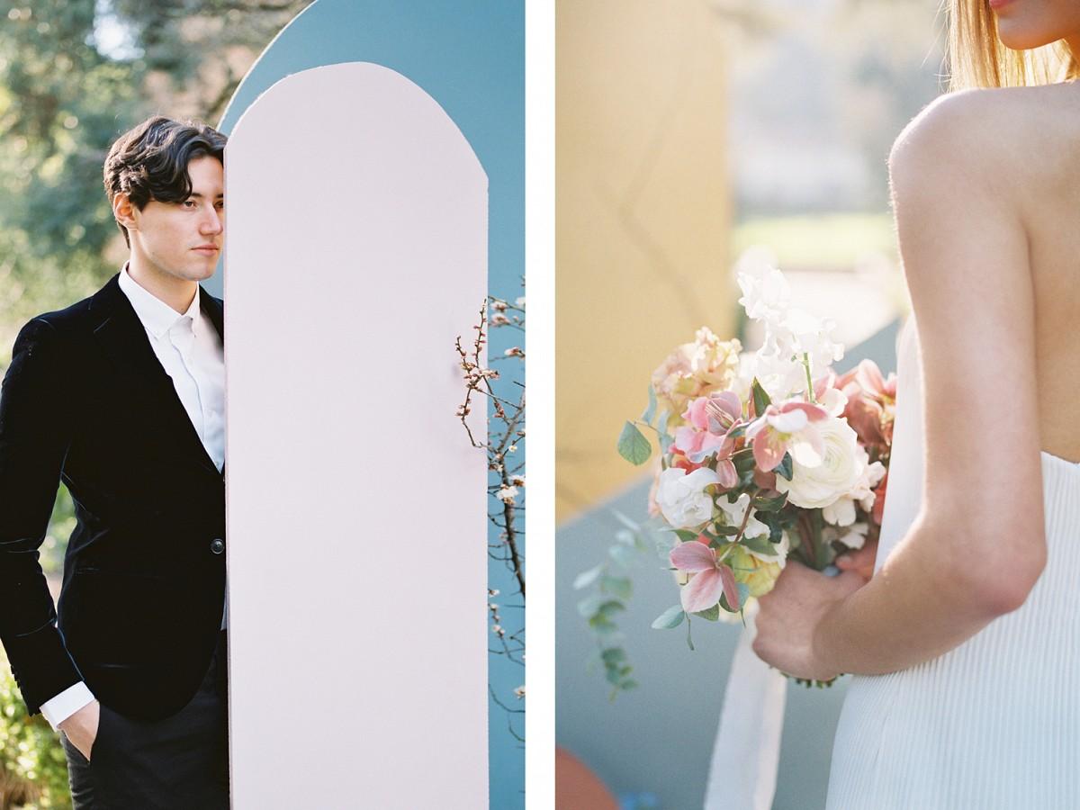 Geometric Colorful Wedding Inspiration