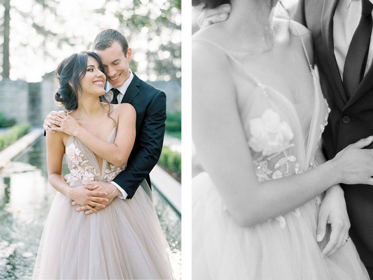 Elegant Engagement Session in a Berta Gown