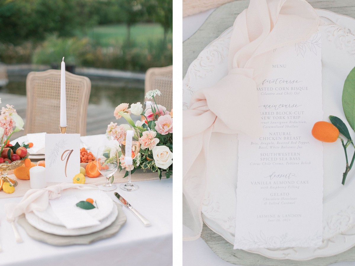 Soft floral editorial in California wine country