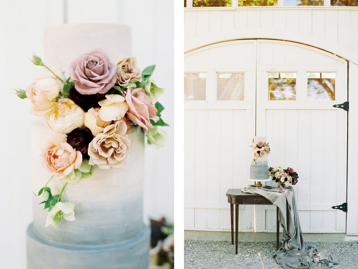 Blush and Eggplant Color Palette for a Barn Wedding