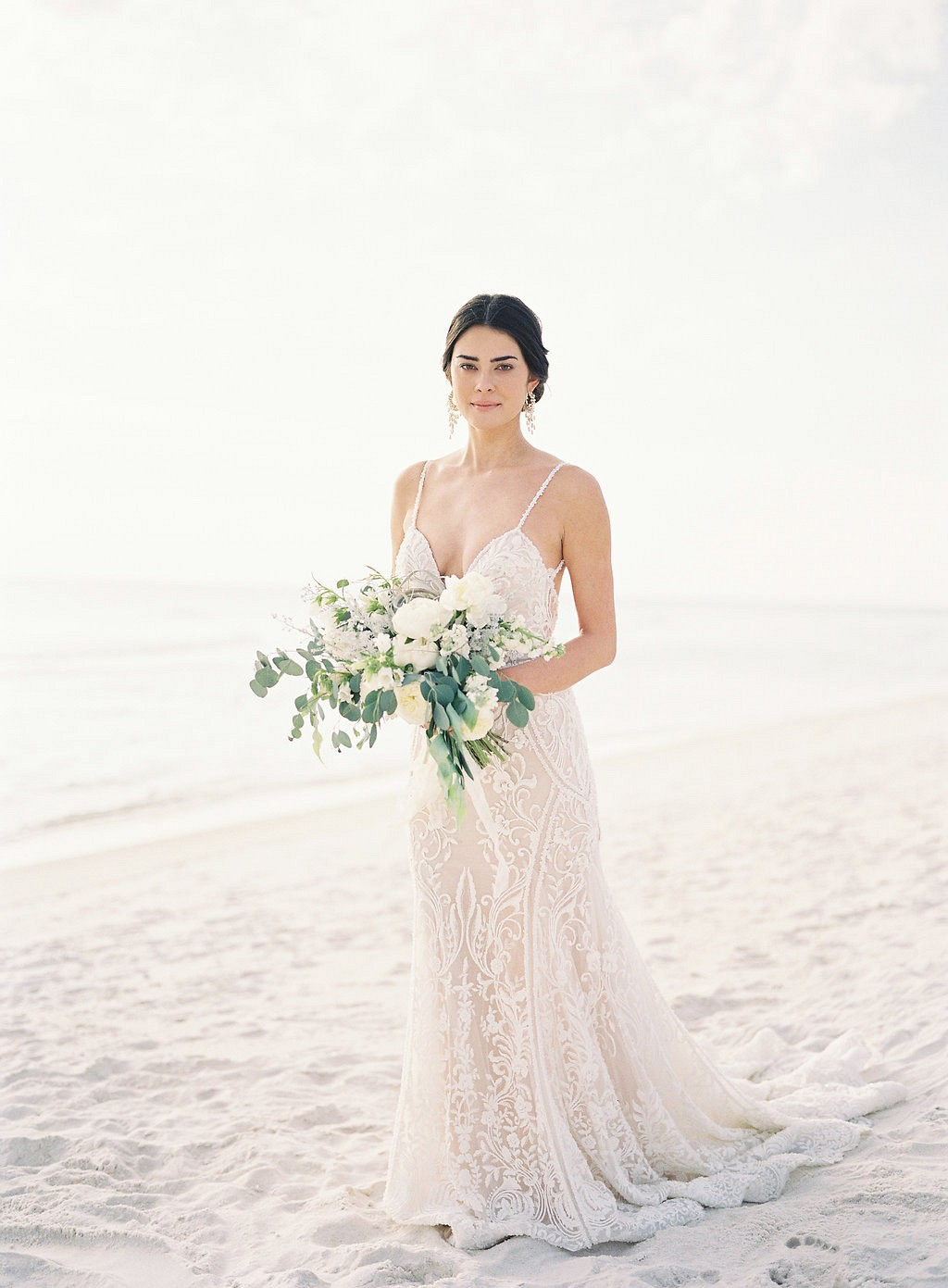 Timeless and Minimal Bridal Session on the Florida Coast