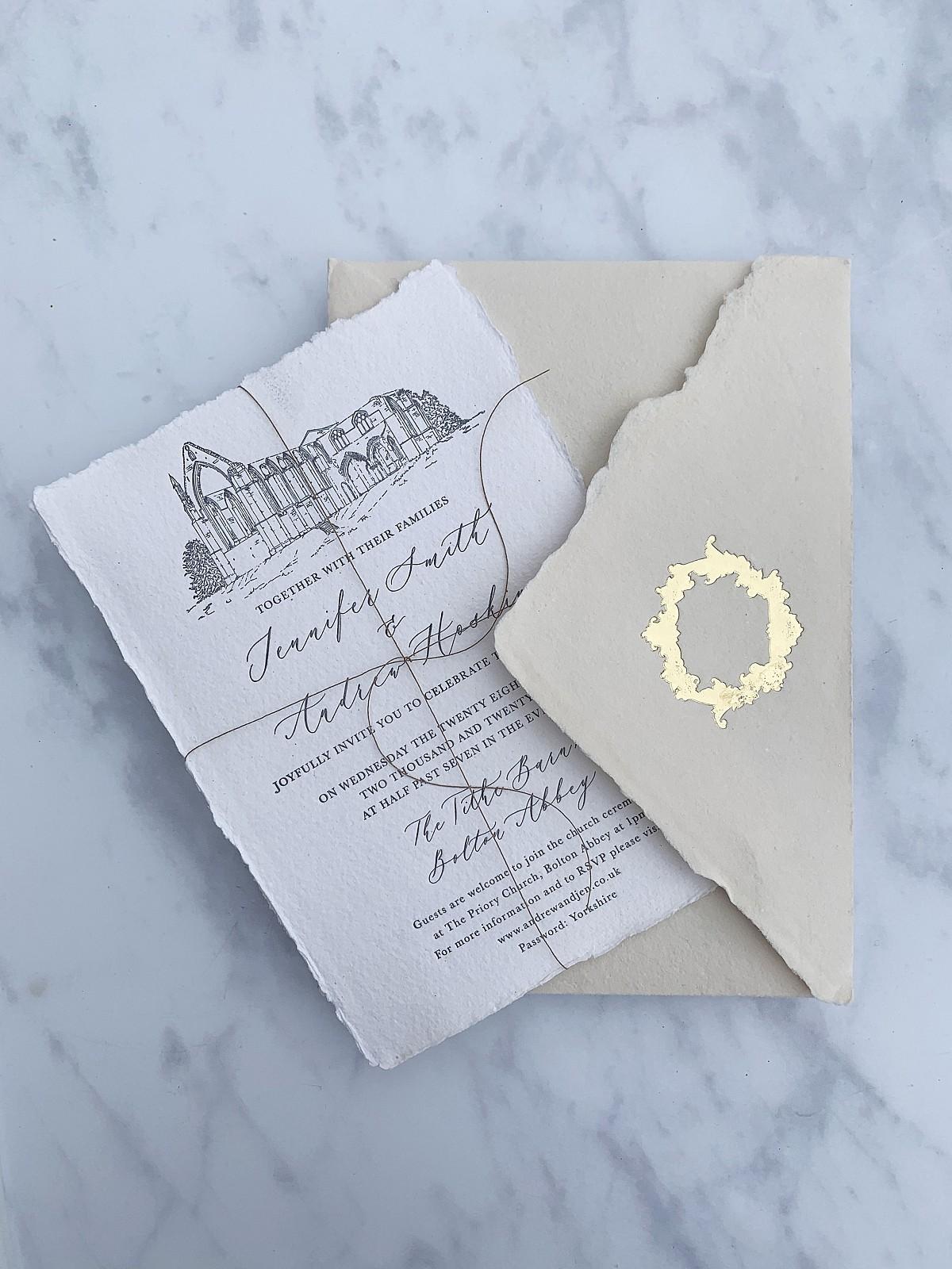 Wedding stationery by Babooche Calligraphy