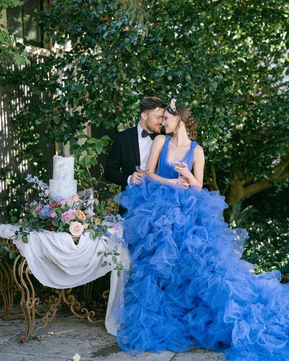 Renoir Inspired Editorial with Colored Tulle Dresses