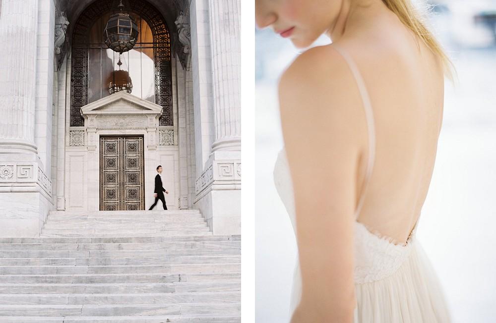 Intimate New York Public Library Elopement   Wedding Sparrow fine art wedding blog