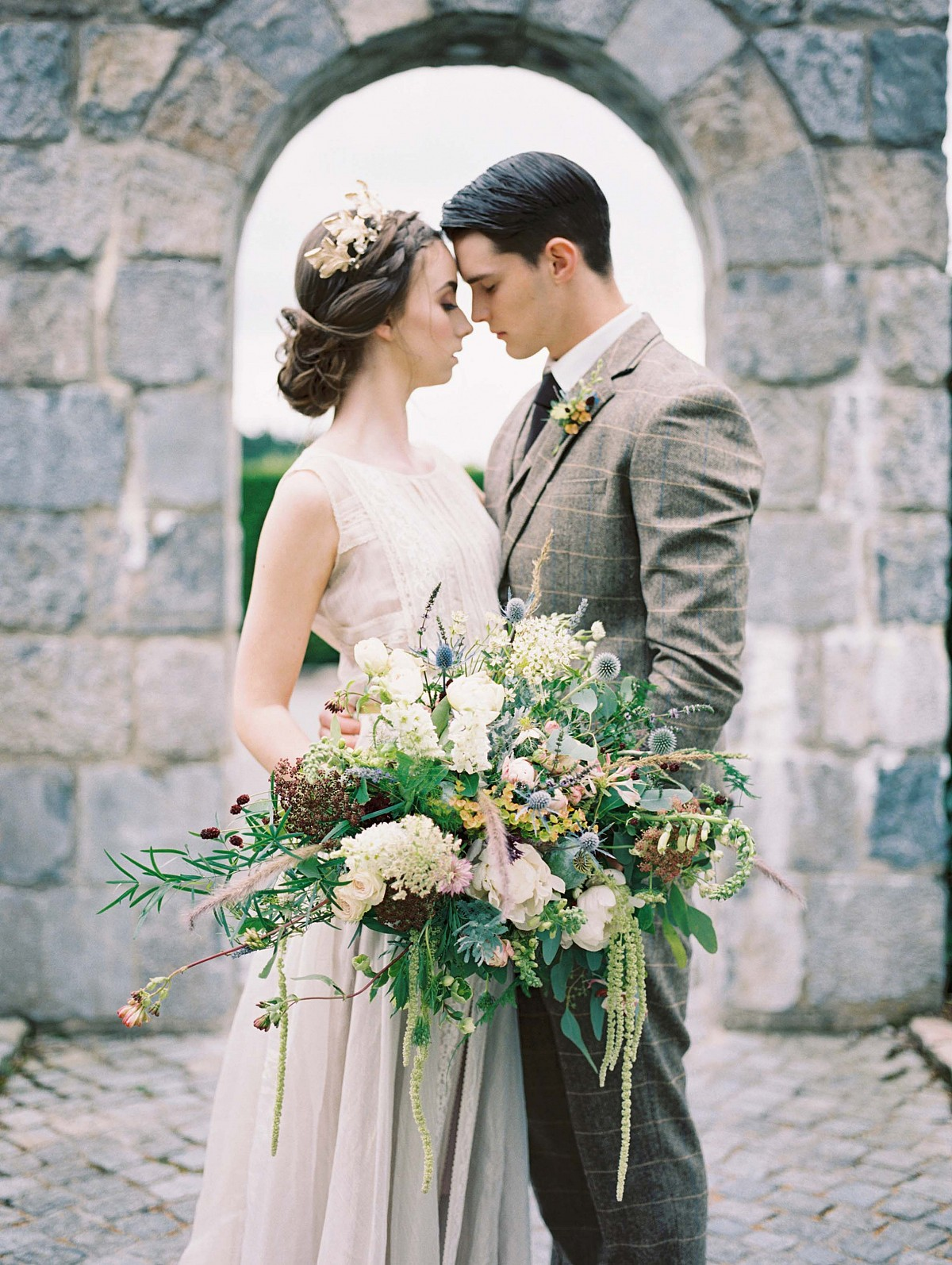 Nostalgic Irish Wedding in Earthy Green tones