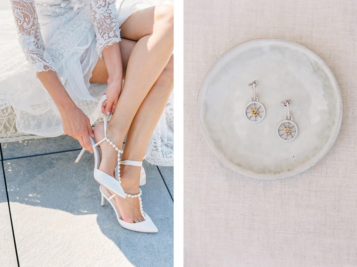 White on White Elegant Italian Villa Wedding Style