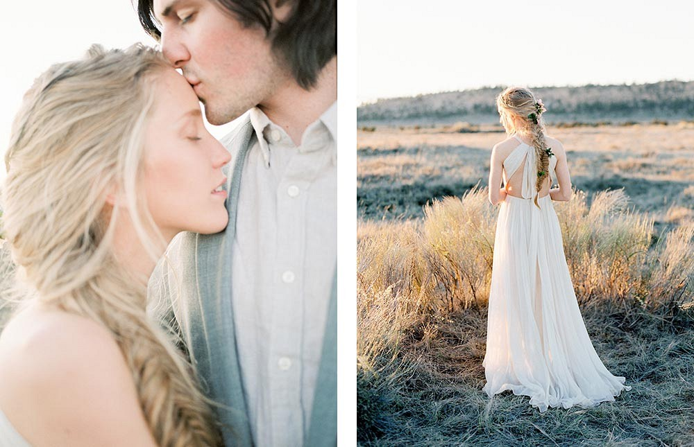 Romantic Desert Elopement by Jacquelyn Hayward Photography | Wedding Sparrow | fine art wedding blog