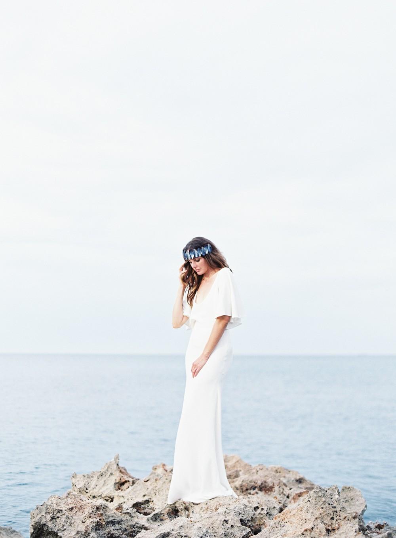 Coastal Wedding Inspiration with DIY mussel crown