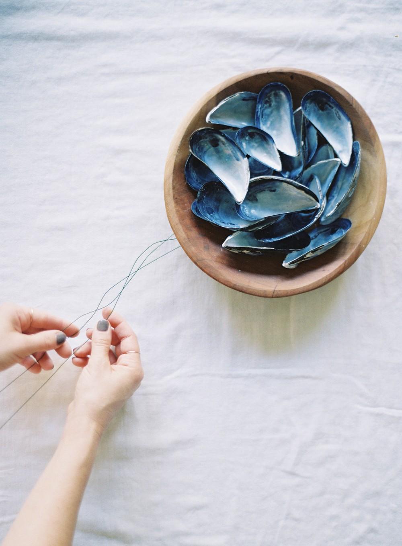 Coastal Wedding Inspiration with Mussel Crown DIY