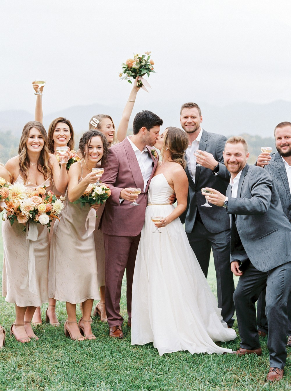 Gorgeous rainy fall wedding in the mountains of North Carolina