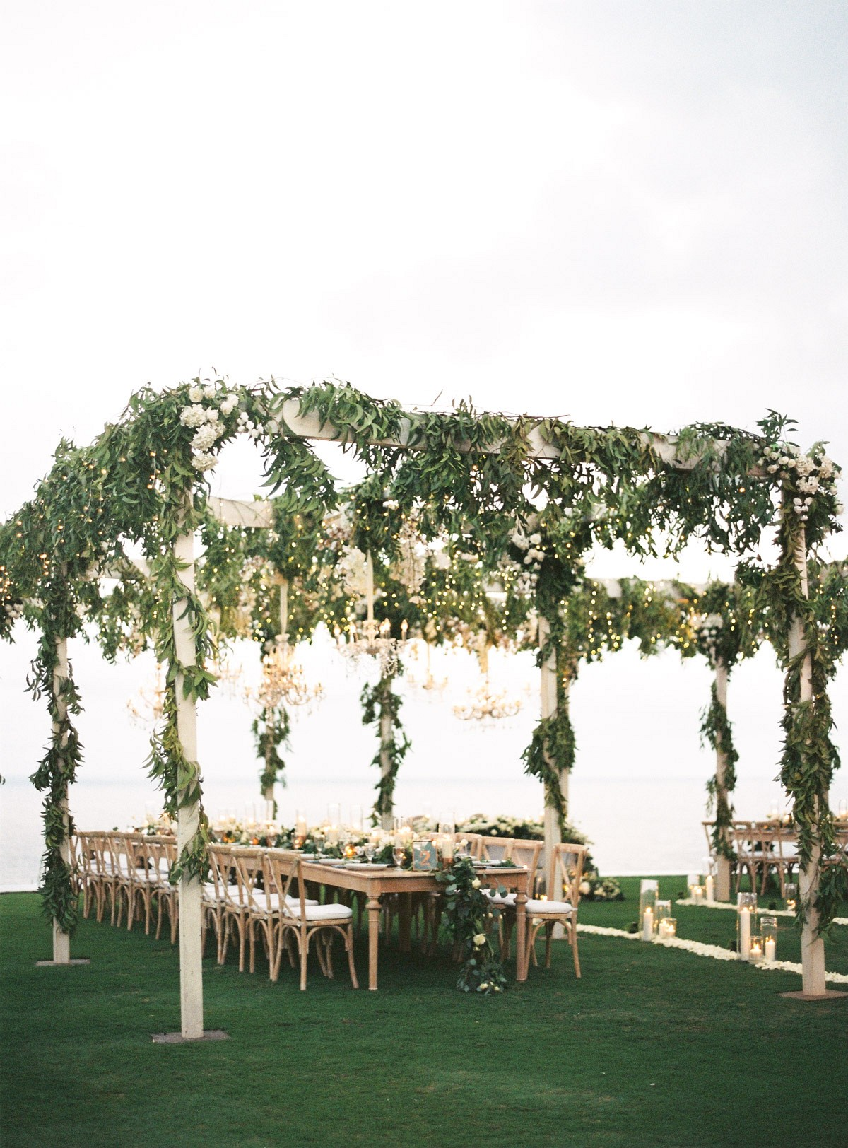 Lush Green and White Destination Wedding in Bali