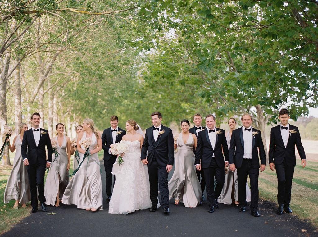 Chic blush flower-filled wedding in Australian winery