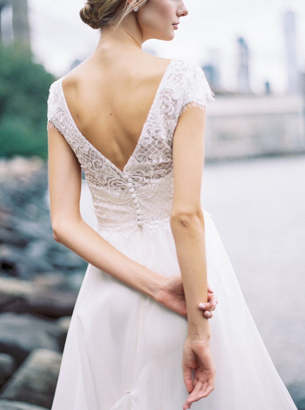 Embellished Cap Sleeve Gowns by Anna Campbell