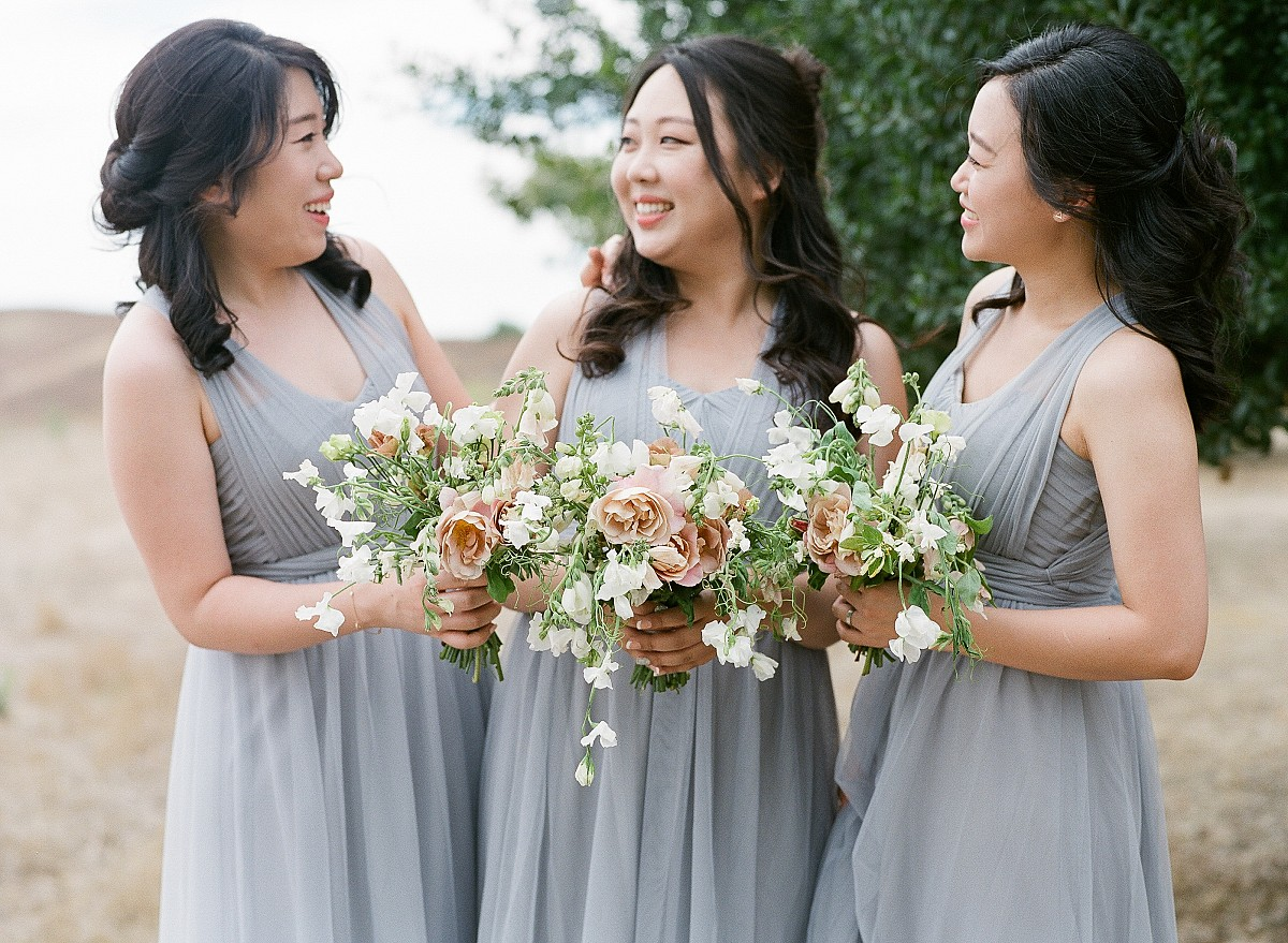 Classic California Wedding with Lilac Bridesmaids Dresses