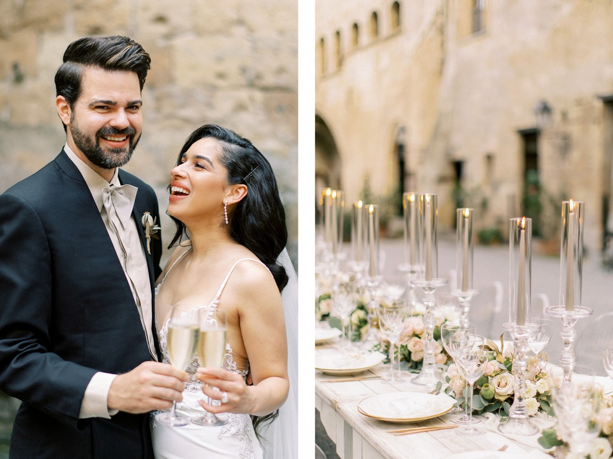 Minimalist La Badia Real Wedding