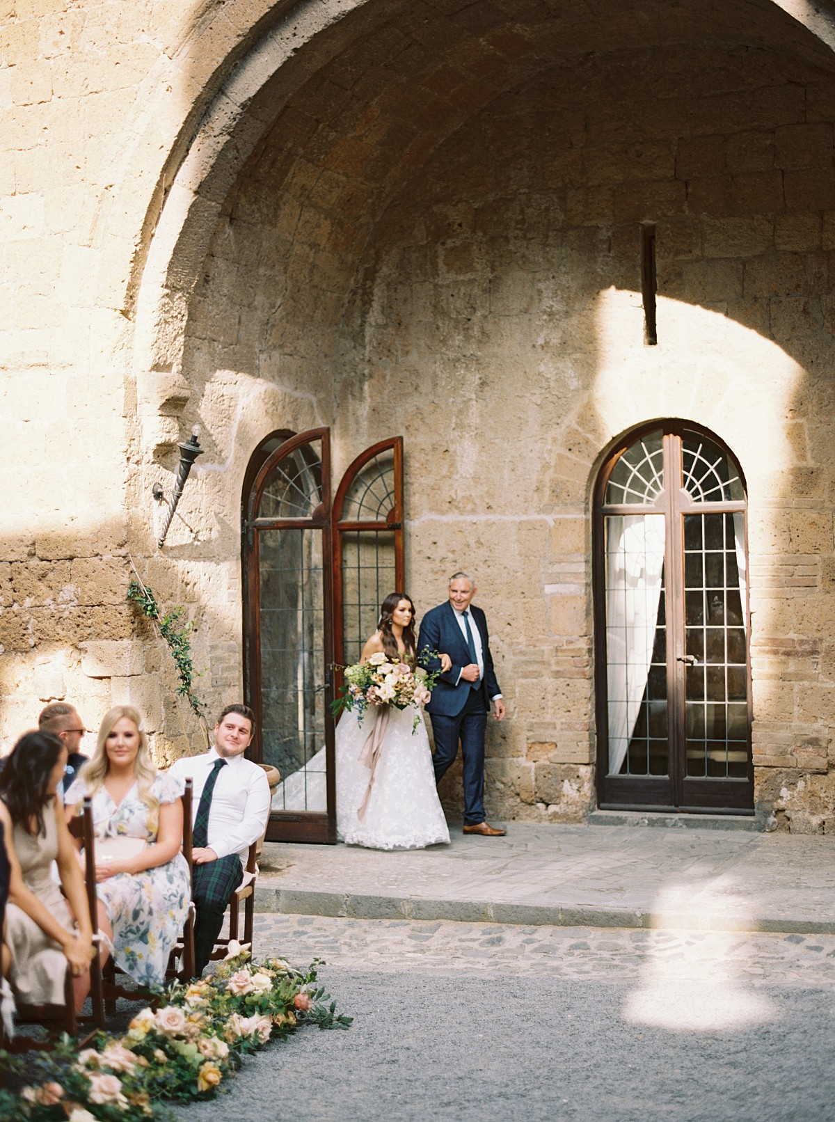 Stunning Italian wedding in crumbling medieval abbey