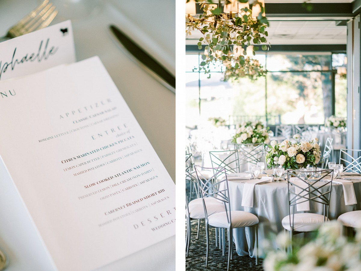 Hotel wedding white floral centrepiece by Lianna Marie