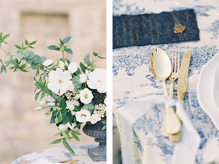 Quintessential French Manor House Elopement with French Blue