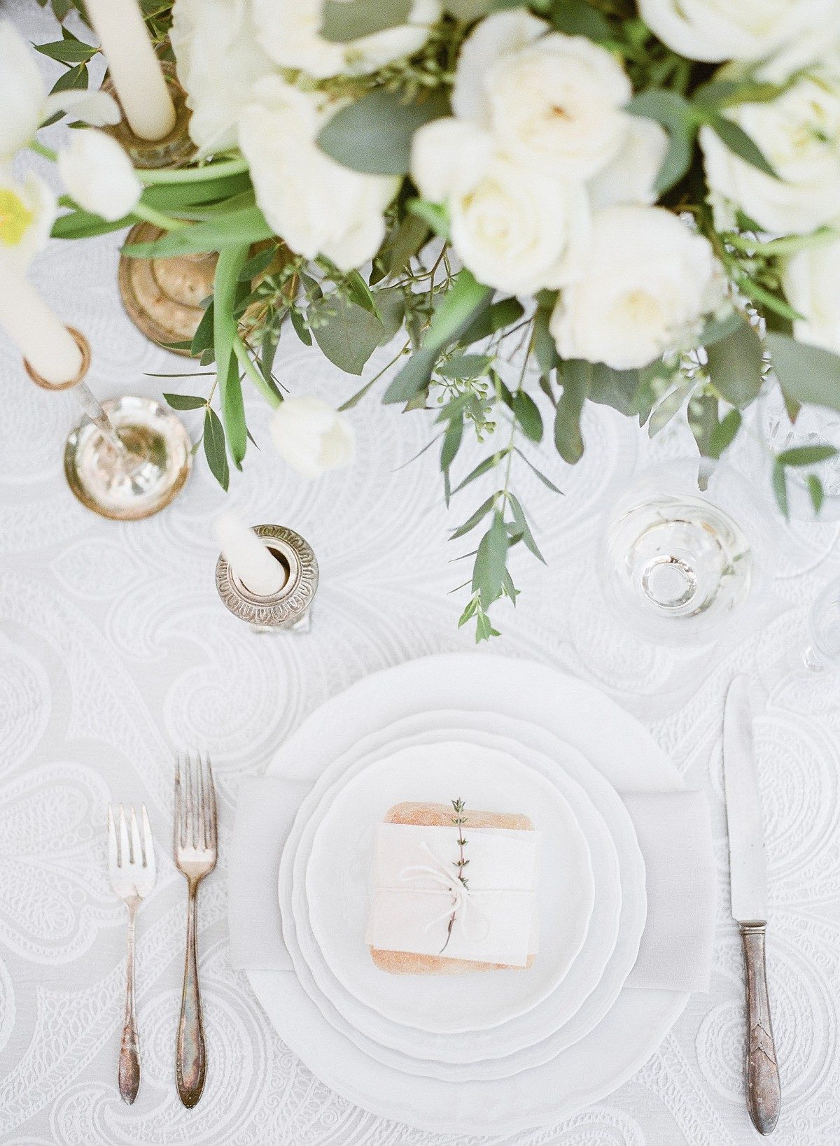 Romantic Wedding Ideas with Eucalyptus Garland