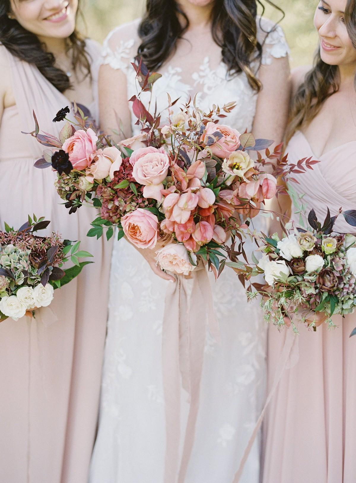 Autumn bridesmaids bouquets