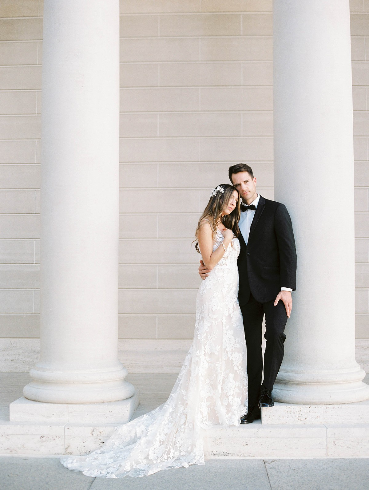 Chic Bridal Style Inspired by French Neoclassical Architecture