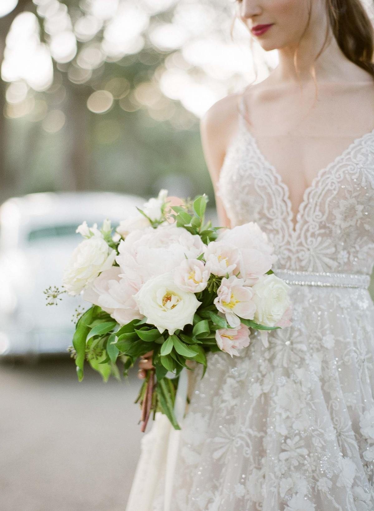 A Classic New Orleans Bride in a Berta Gown