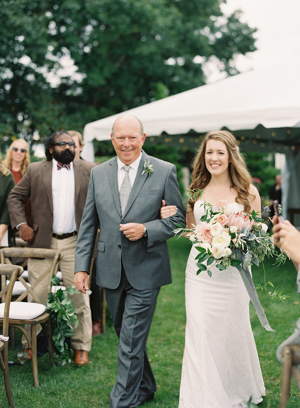 Kate and Cooper's Garden Wedding in Neutrals