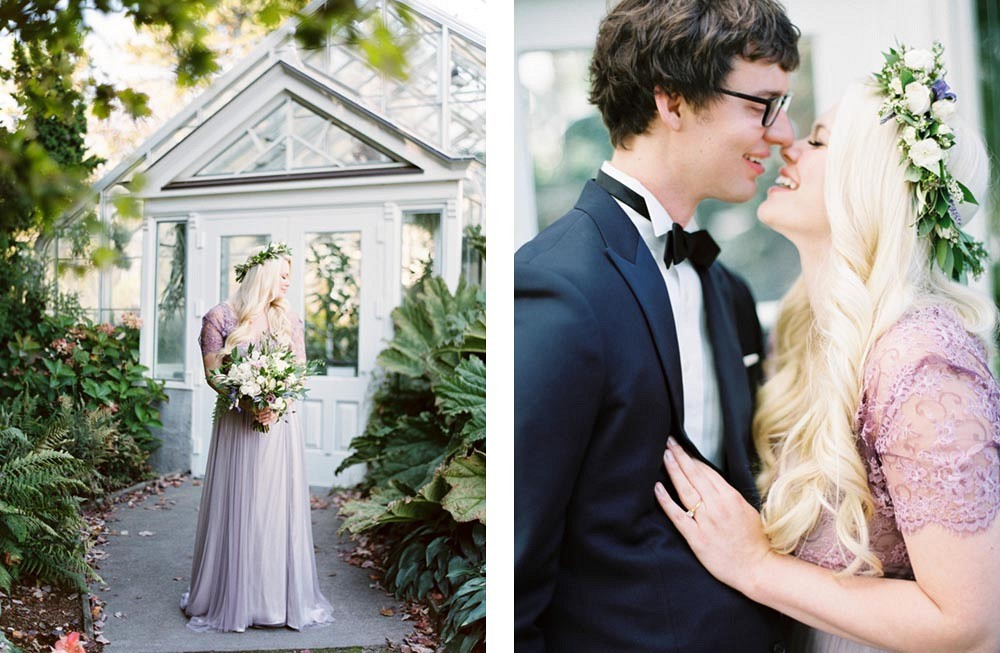 Conservatory Wedding in a Lilac Gown by Maria Lamb Photography | Wedding Sparrow | fine art wedding blog