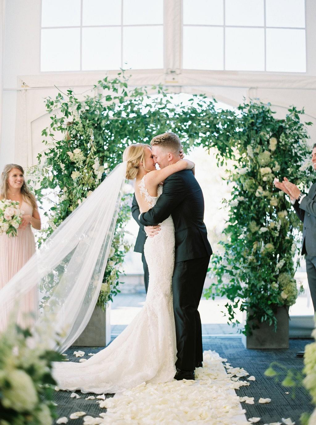 Melanie and Tyson's Supremely Elegant Blue and Blush Wedding